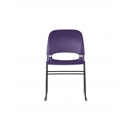 chaise limerick herman miller sans patin noir assise dossier purple le bon si ge. Black Bedroom Furniture Sets. Home Design Ideas