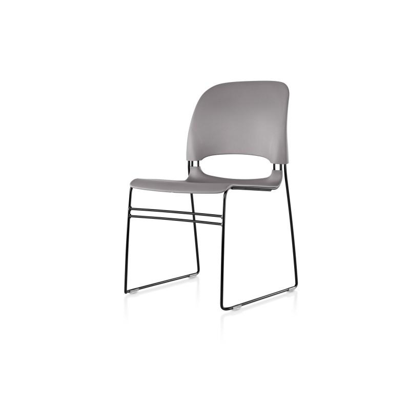 chaise limerick herman miller avec patins pour assemblage noir assise dossier medium tone. Black Bedroom Furniture Sets. Home Design Ideas