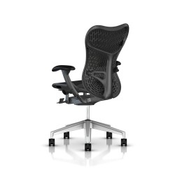 Fauteuil Mirra 2 Herman Miller H-Alloy Graphite / Butterfly Graphite