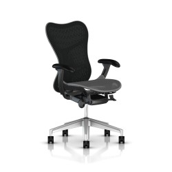 Fauteuil Mirra 2 Herman Miller H-Alloy Graphite / Butterfly Slate Grey