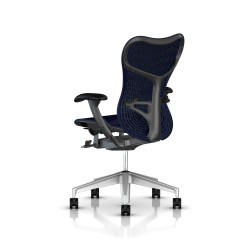 Fauteuil Mirra 2 Herman Miller H-Alloy Graphite / Butterfly Twilight