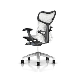Fauteuil Mirra 2 Herman Miller H-Alloy Graphite / Butterfly Studio White