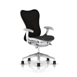 Fauteuil Mirra 2 Herman Miller H-Alloy Studio White / Butterfly Graphite
