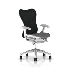 Fauteuil Mirra 2 Herman Miller H-Alloy Studio White / Butterfly Slate Grey