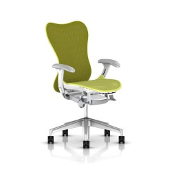 Fauteuil Mirra 2 Herman Miller H-Alloy Studio White / Butterfly Lime Green