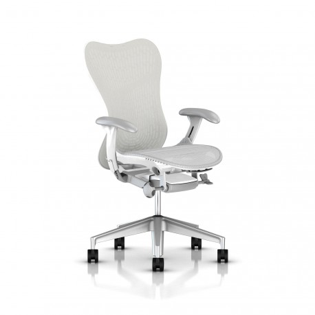 Fauteuil Mirra 2 Herman Miller H-Alloy Studio White / Butterfly Studio White