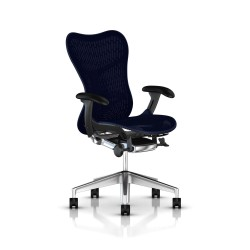 Fauteuil Mirra 2 Herman Miller Alu Semi Poli Graphite / Butterfly Twilight