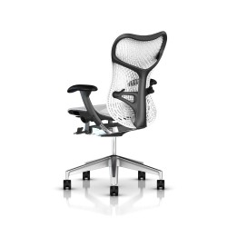 Fauteuil Mirra 2 Herman Miller Alu Semi Poli Graphite / Triflex Studio White