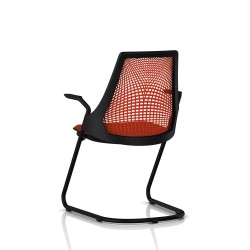 Sayl Side Chair Herman Miller Noir / Dossier Suspension Red / Assise Tissu Panama