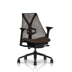 Fauteuil Sayl Herman Miller Noir / Dossier Suspension Java / Assise Bounty