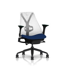 Fauteuil Sayl Herman Miller Noir / Dossier Suspension Studio White / Assise Scuba