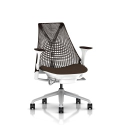 Fauteuil Sayl Herman Miller Fog-Blanc / Dossier Suspension Java / Assise Bounty