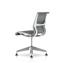Siege Setu Herman Miller H-Alloy / Patins / Structure Studio White / Lyris Alpine