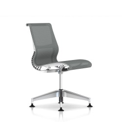 Siege Setu Herman Miller alu Semi Poli / Structure Studio White / Lyris Alpine