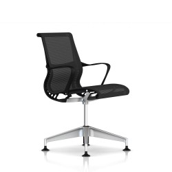Fauteuil Setu Herman Miller H-Alloy / Structure Graphite / Lyris Graphite