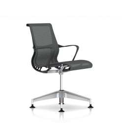 Fauteuil Setu Herman Miller H-Alloy / Structure Slate Grey / Lyris Slate Grey