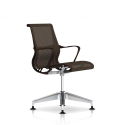 Fauteuil Setu Herman Miller Alu Semi Poli / Patins / Structure Java / Lyris Java