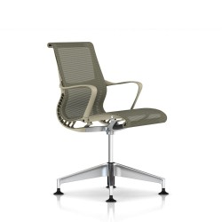 Fauteuil Setu Herman Miller Alu Semi Poli / Structure Chino / Lyris Chino
