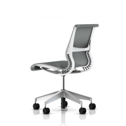 Siege Setu Herman Miller H-Alloy / Roulettes / Structure Studio White / Lyris Alpine