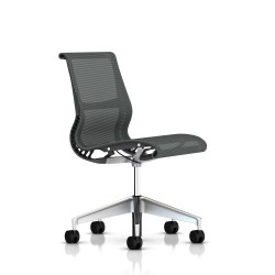 Siege Setu Herman Miller Alu Semi Poli / Structure Slate Grey / Lyris Slate Grey