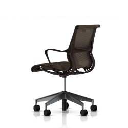 Fauteuil Setu Herman Miller Graphite / Structure Java / Lyris Java