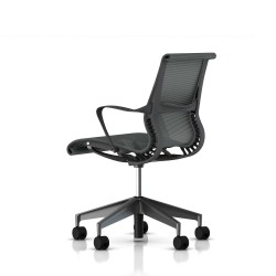 Fauteuil Setu Herman Miller Graphite / Structure Slate Grey / Lyris Slate Grey