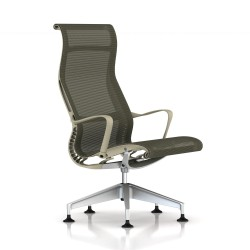 Fauteuil Setu Lounge Herman Miller H-Alloy / Structure Chino / Lyris Chino