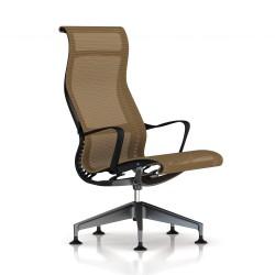 Fauteuil Setu Lounge Herman Miller Graphite / Structure Graphite / Lyris Mango