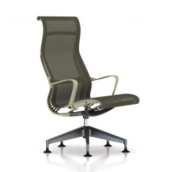 Fauteuil Setu Lounge Herman Miller Graphite / Structure Chino / Lyris Chino