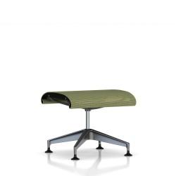 Repose Pied Setu Ottoman Herman Miller Graphite / Structure Graphite / Lyris Chartreuse