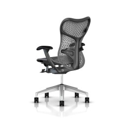 Fauteuil Mirra 2 Herman Miller H-Alloy Graphite / Triflex Slate Grey