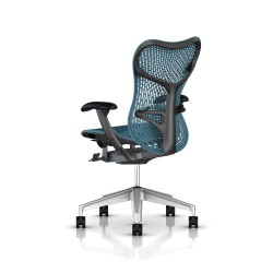 Fauteuil Mirra 2 Herman Miller H-Alloy Graphite / Triflex Dark Turquoise