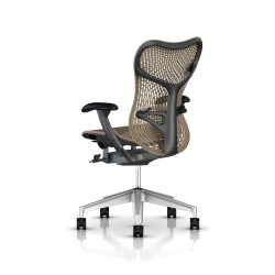 Fauteuil Mirra 2 Herman Miller H-Alloy Graphite / Triflex Cappuccino