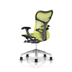 Fauteuil Mirra 2 Herman Miller H-Alloy Graphite / Triflex Lime Green