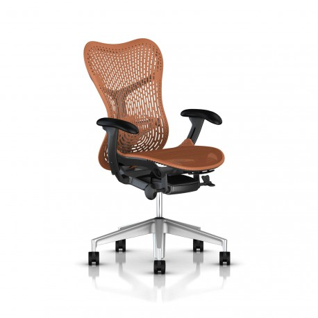 Fauteuil Mirra 2 Herman Miller H-Alloy Graphite / Triflex Urban Orange