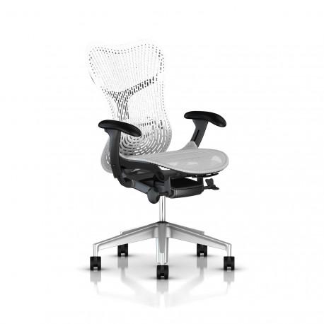 Fauteuil Mirra 2 Herman Miller H-Alloy Graphite / Triflex Studio White
