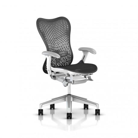 Fauteuil Mirra 2 Herman Miller H-Alloy Studio White / Triflex Graphite