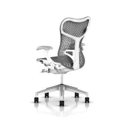 Fauteuil Mirra 2 Herman Miller H-Alloy Studio White / Triflex Slate Grey