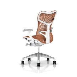 Fauteuil Mirra 2 Herman Miller H-Alloy Studio White / Triflex Urban Orange