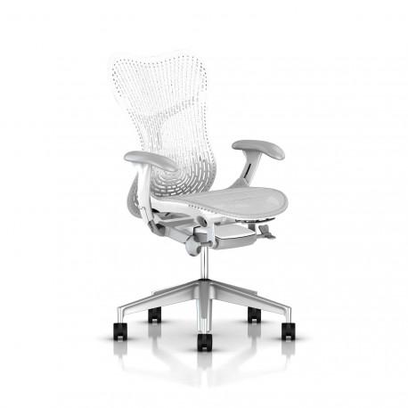 Fauteuil Mirra 2 Herman Miller H-Alloy Studio White / Triflex Studio White
