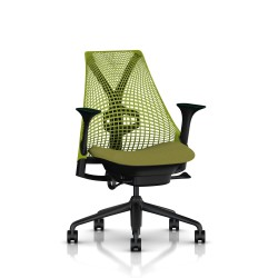 Fauteuil Sayl Herman Miller Noir / Dossier Suspension Green Apple / Assise Appledore