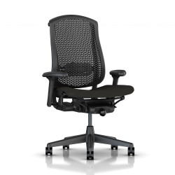 Fauteuil Celle Herman Miller Graphite / cellulaire Graphite / Assise tissu