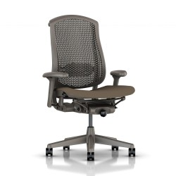 Fauteuil Celle Herman Miller Graphite / cellulaire Brownstone/ Assise tissu
