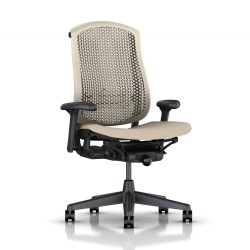 Fauteuil Celle Herman Miller Graphite / cellulaire Champagne / Assise tissu