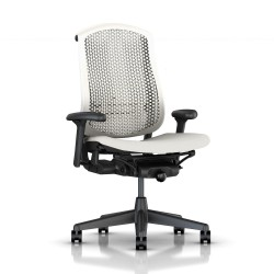 Fauteuil Celle Herman Miller Graphite / cellulaire Blanc/ Assise tissu