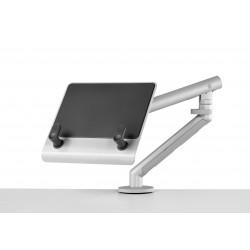 Support pour ordinateur portable avec bras flo et fixation 0-71mm - silver