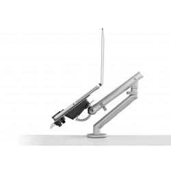 Support pour ordinateur portable avec bras flo et fixation 0-71mm - blanc