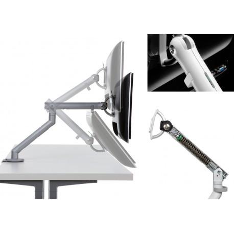 Support d'écran flo pour écran 3 à 9kg avec fixation 0-71mm - blanc