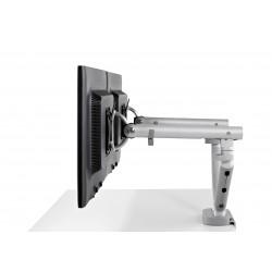 Support d'écran flo pour 2 écrans 3 à 9kg avec fixation double 0-71mm - silver