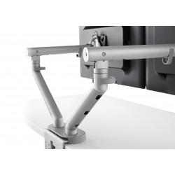 Support d'écran flo pour 2 écrans 3 à 9kg avec fixation double 0-71mm - blanc
